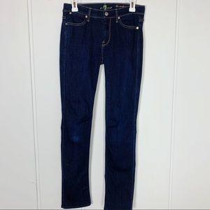 7FAMK The Modern Straight Dark Wash Denim Jeans
